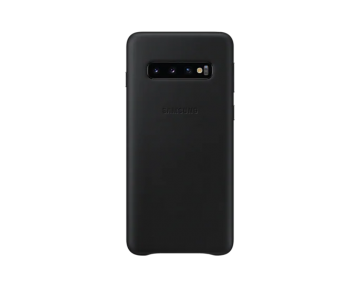 Samsung Galaxy S10 Leather Cover-Black