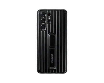 Galaxy S21 Ultra Protective Standing Cover-Black
