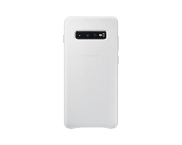 Galaxy S10+ Leather Cover-White