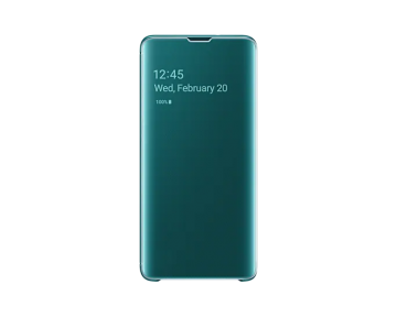 Samsung Galaxy S10 Clear View Cover-Green