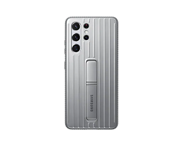 Galaxy S21 Ultra Protective Standing Cover-Gray