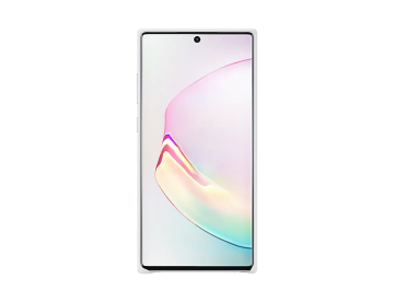 Galaxy Note10+ Leather Cover Silver