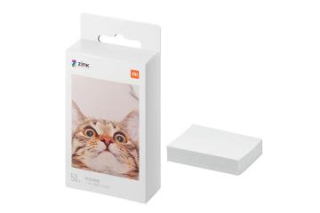 Mi Portable Photo Printer Paper (2x3-inch, 20-sheets)-White