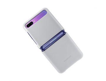 Samsung Galaxy Z Flip Leather Cover-Light Gray
